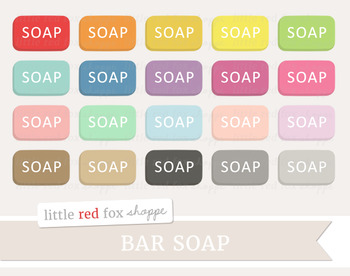 Bar Soap Clipart; Bathroom
