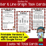 Bar and Line Graph Task Cards: 4th Grade
