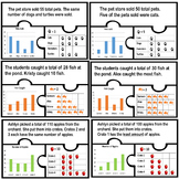 Bar graph pictograph match puzzles math work station centers picture graphs