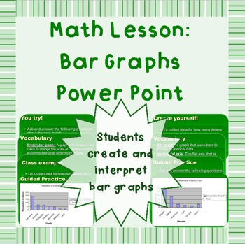 Bar graphs - Power Point presentation
