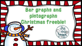 Bar graphs and pictographs task cards freebie