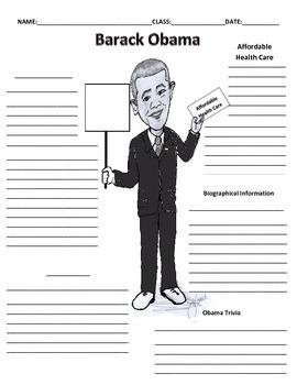 44th President - Barack Obama Graphic Organizer