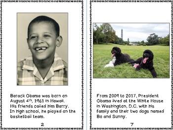 Barack Obama - 44th President of the U.S. Reproducible Mini Book
