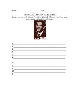Barack Obama Acrostic