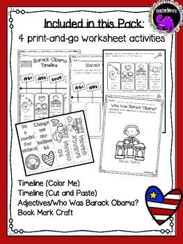 Barack Obama Activity Pack