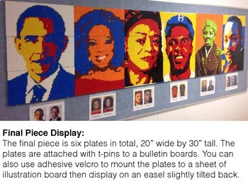 Barack Obama Black History Collaborative Lego Mural