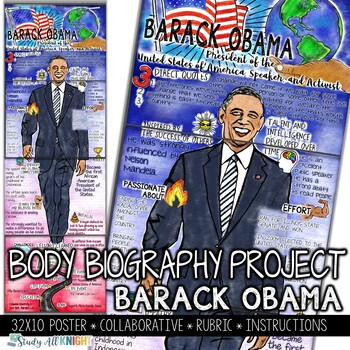 Barack Obama, Black History, Former President, Activist, Body Biography Project