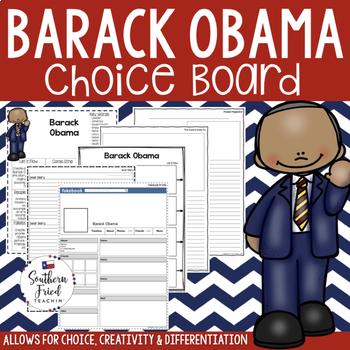 US Presidents - Barack Obama Choice Board