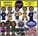 Barack Obama Clip Art Bundle {Educlips Clipart}
