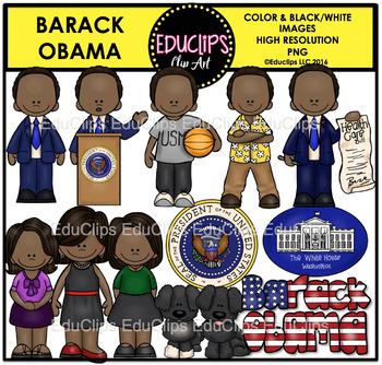 Barack Obama Clip Art Bundle {Educlips Clipart}