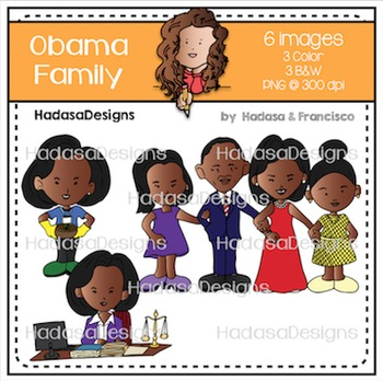 Obama Family Clip Art Set FREEBIE