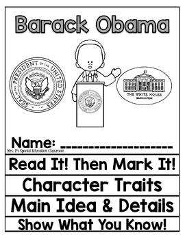 Barack Obama Close Reading Flip Flap