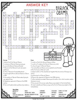 Barack Obama Comprehension Crossword
