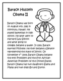 Barack Obama Facts/Coloring Page