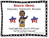 Barack Obama Foldable Emergent Reader ~Color & B&W Versions PLUS Printable
