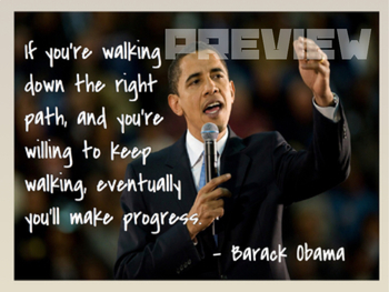 Barack Obama Quote Growth Mindset Poster By Social Studies Teacher