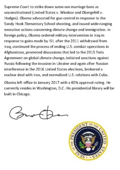 Barack Obama Handout