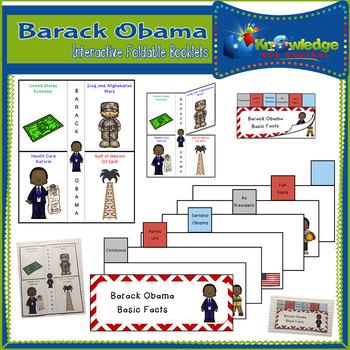Barack Obama Interactive Foldable Booklets - EBOOK