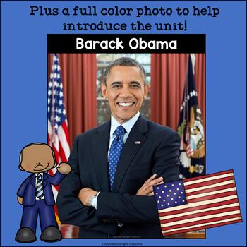 Barack Obama Mini Book for Early Readers: Presidents' Day