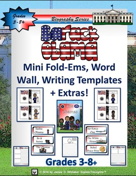 Barack Obama Mini Research Fold-Ems, Word Wall, and Writin