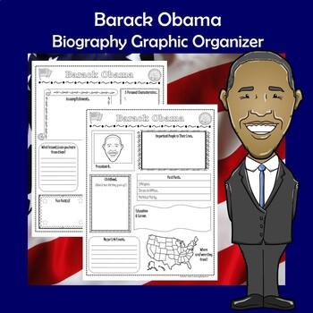 Barack Obama President Biography Research Graphic Organizer