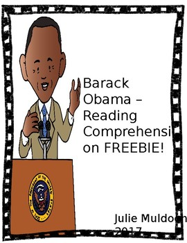 Barack Obama Reading Passage - FREEBIE!