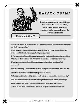 Speech Therapy-Barack Obama comprehension, sequencing, vocabulary, & reasoning