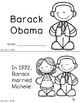 Barack Obama mini-book and comprehension questions