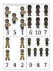 Barack Obama themed Count and Clip Cards preschool printable math child activity