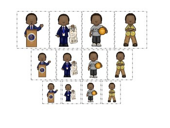 Barack Obama themed Size Sorting preschool printable child activity.