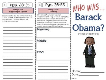 Who is Barack Obama? A Biography Trifold Unit