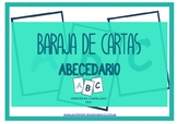 Baraja de cartas: abecedario (castellano, azul)