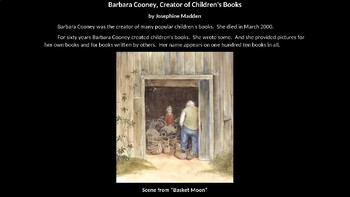 Barbara Cooney - Creator of Children's Books - An Illustrated PowerPoint