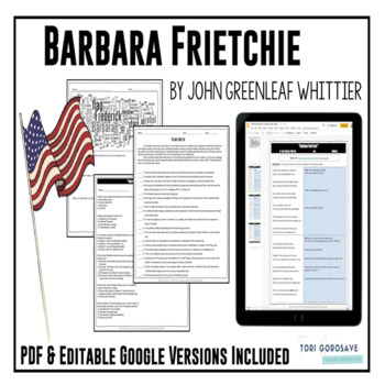"""Poetry Lesson: """"Barbara Frietchie"""" by J.G. Whittier {Googl"""