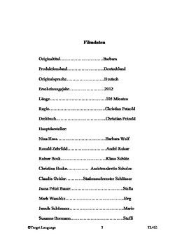 Barbara-German Study Guide