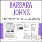Barbara Johns Reading and Questions