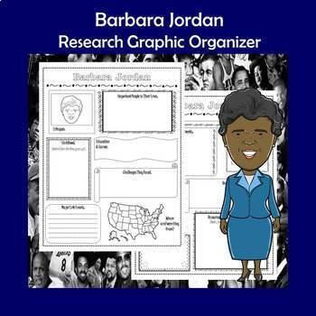 Barbara Jordan Biography Research Graphic Organizer