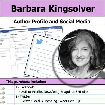 Barbara Kingsolver - Author Study - Profile and Social Media