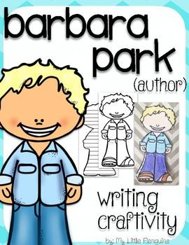 """Barbara Park """"Craftivity"""" Writing page (Author of Junie B. Jones)"""