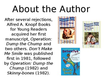 Barbara Parks Author Study
