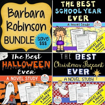 The Best School Year, Halloween, and Christmas Pageant Ever Novel Study Bundle