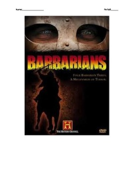 Barbarian Battle Tech fill-in-the-blank movie guide w/quiz
