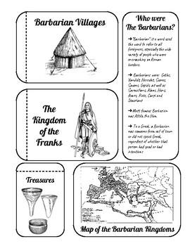 Barbarian Kingdoms Interactive Notebook Page