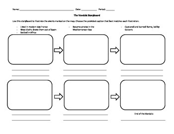 Barbarians: The Vandals Map and Storyboard Activity