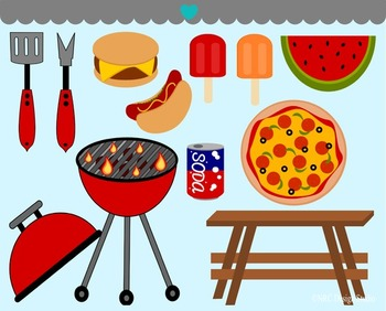 Barbecue grill picnic clipart commercial use