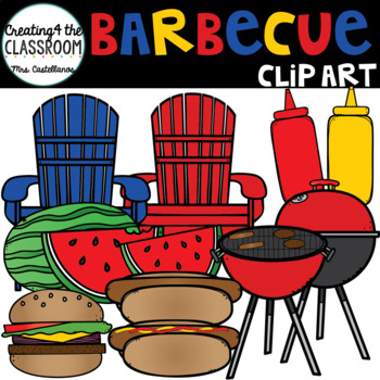 Barbecue Clip art {4th of July}