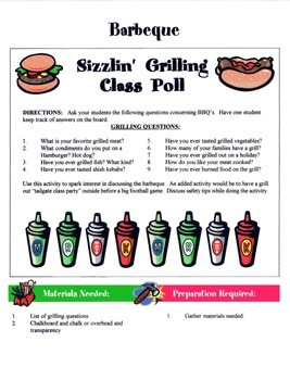 Barbeque Game / Activity