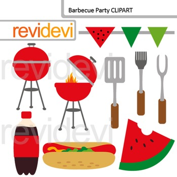 Barbecue party clip art
