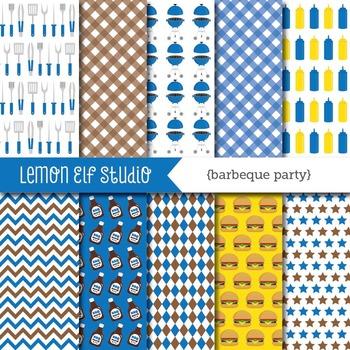 Barbeque Party-Digital Paper (LES.DP39B)