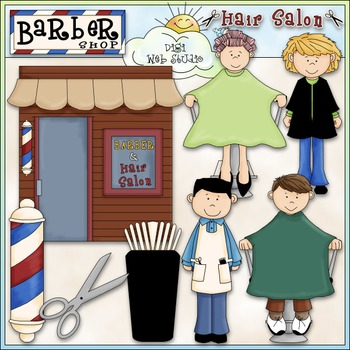 Barber Shop & Hair Salon Clip Art - CU Clip Art & B&W